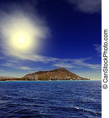 hawaï, levers de soleil, honolulu