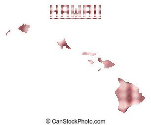 hawaï, point, carte