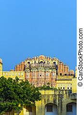 Hawa Mahal in late afternoon light, Jaipur, India