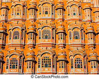 Hawa Mahal, the palace of wind located in Jaipur, Rajasthan,...