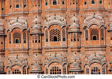 Hawa Mahal, the Palace of Winds in Jaipur, Rajasthan, India.