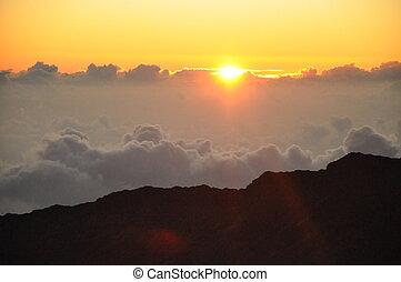 hawai, salida del sol, haleakala