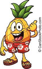 hawaiano, ananas