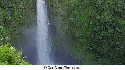 Hawaii Akaka Falls - Hawaiian waterfall on Big Island, ...