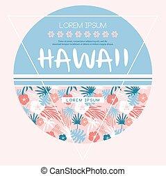 Hawaii country club. Vector print