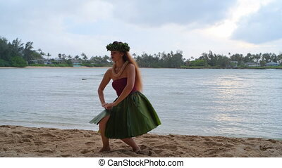 Hawaii hula dancer in costume dancing 4k - Hawaii hula ...