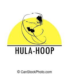 Hawaii hula vector logo design template. Beautiful Dancer...