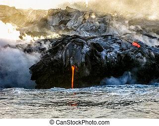 Hawaii lava eruption