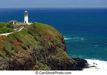 hawaii, lighthouse., kauai