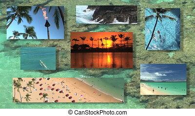 Hawaii Montage - Tropical destination montage in Hawaii