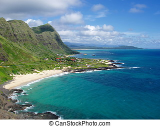 hawaii., oahu, strand., makapuu