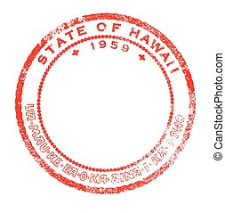Hawaii Red Ink Stamp