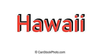 Hawaii red stamp text on white