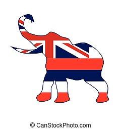 Hawaii Republican Elephant Flag