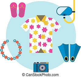 Hawaii shirt vector illustration. - Hawaiian aloha shirt....