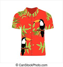 Hawaii shirt vector - Vector illustration Hawaiian aloha...
