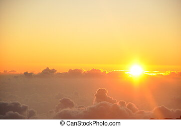 hawaii, solopgang, haleakala
