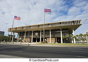Hawaii State Capital Building.