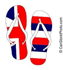 Hawaii State Flag Flip Flop Shoes