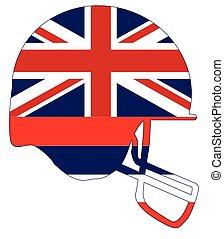 Hawaii State Flag Football Helmet