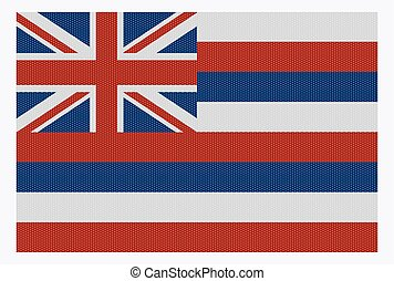 Hawaii State Flag White Dots