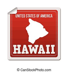 Hawaii sticker or label