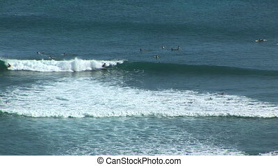Hawaii surfers time lapse