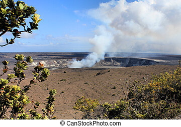 Hawaii volcanoes National Park - crater on the caldera...