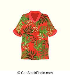 2868456b6 Vector illustration hawaiian aloha shirt. hawaii shirt aloha beach ...