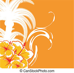 hawaiian background1 - hawaiian background in vector format