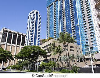 Hawaiian City Street