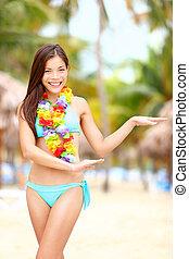 Hawaiian dance - hula dancer