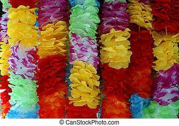 Hawaiian Leis - Photographed at a local outdoor market...