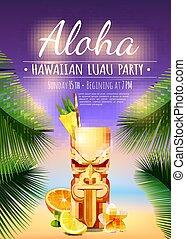 Hawaiian Luau Party Poster