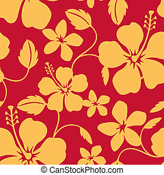 hawaiian, model, seamless, hula