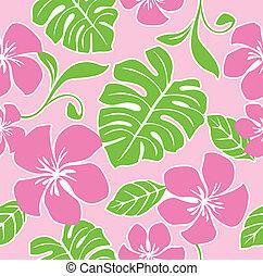 hawaiian, model, seamless, zomer