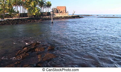Pu'uhonua o Honaunau National Historical Park, a place of refuge, on the Big Island of Hawaii