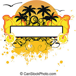 hawaiian, sticker, copyspace8