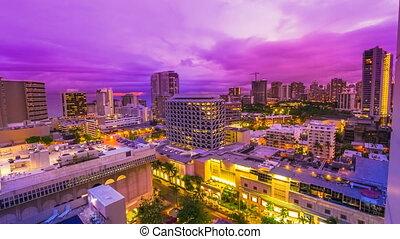 Hawaiian sunset close up