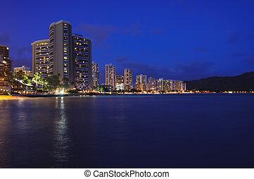 hawaiin, crépuscule