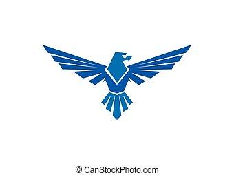 hawk eagle mascot vector logo