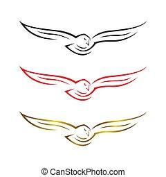 Hawk Falcon Eagle vector Logo design icon illustration Template