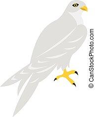 Hawk icon, flat style