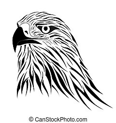 Hawk, tattoo - Abstract hawk in the form of a tattoo
