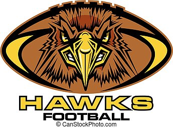 hawks football mascot team design for school, college or...