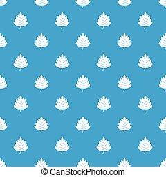 Hawthorn leaf pattern seamless blue