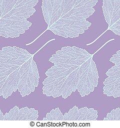hawthorn leaf skeleton pattern
