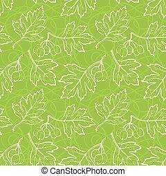 Hawthorn Leaves, Seamless
