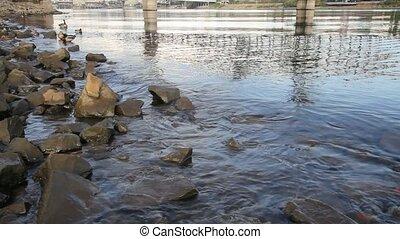 Hawthorne Bridge on Willamette River in Portland Oregon 1080p