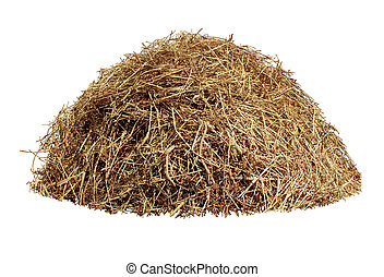 Hay Pile - Hay pile isolated on a white background as an...